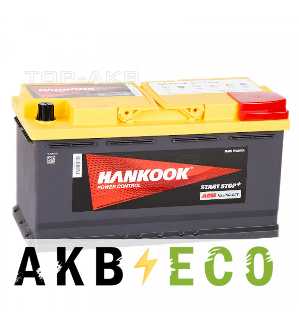 Автомобильный аккумулятор Hankook AGM SA 59520 (95R 850A 353х173х190) Start Stop Plus