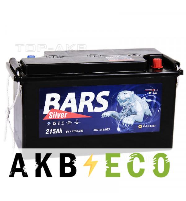 Автомобильный аккумулятор Bars 215 Ач 6В 1100A 425x170x240