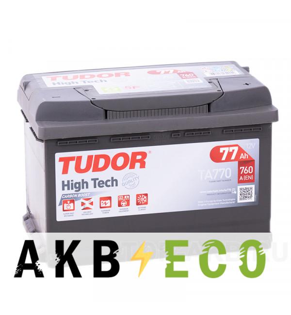 Автомобильный аккумулятор Tudor High-Tech 77R (760A 278x175x190) TA770