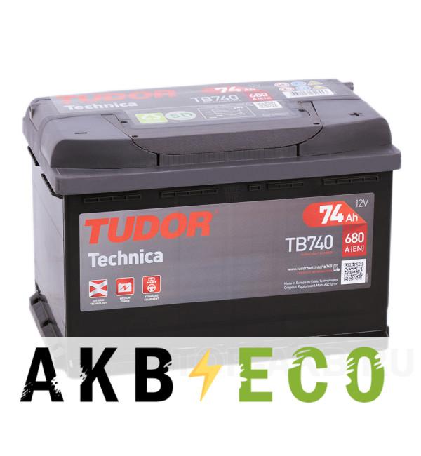 Автомобильный аккумулятор Tudor Technica 74R (680A 278x175x190) TB740