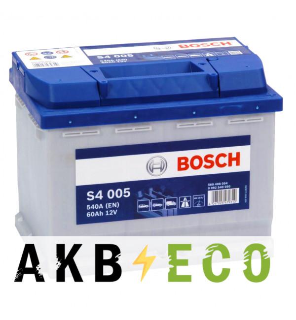Автомобильный аккумулятор Bosch S4 005 60R 540A 242x175x190