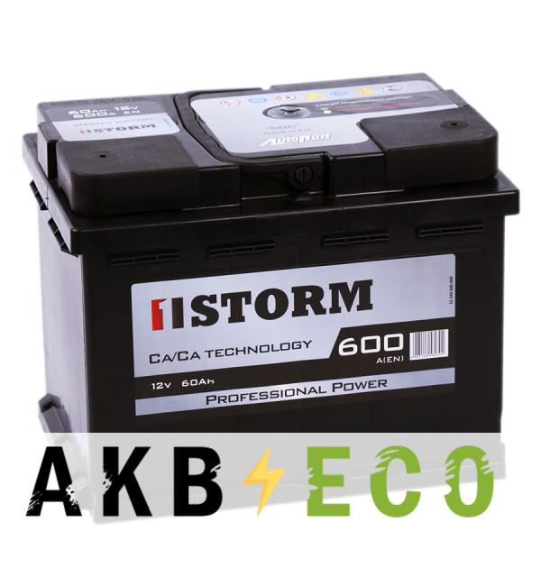 Автомобильный аккумулятор Storm Professional Power 60L 600A 242x175x175