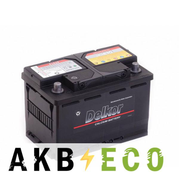 Автомобильный аккумулятор Delkor 57413 (74L 680A 277x174x188)