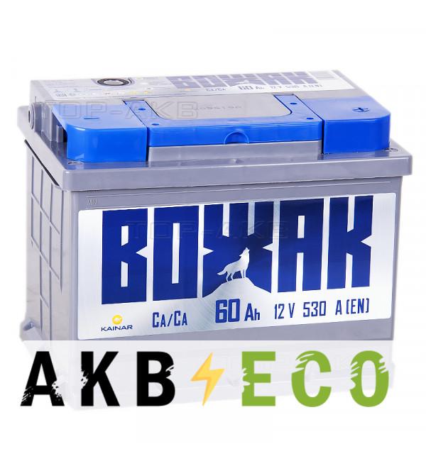 Автомобильный аккумулятор Вожак 60R 530A 242x175x190
