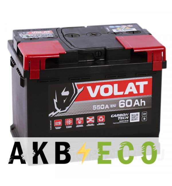 Автомобильный аккумулятор Volat 60R (550A 242x175x190)