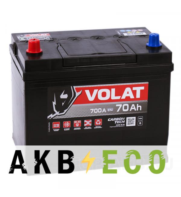 Автомобильный аккумулятор Volat Asia 70L (700A 261x173x225)