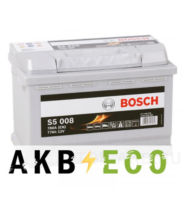Автомобильный аккумулятор Bosch S5 008 77R 780A 278x175x190