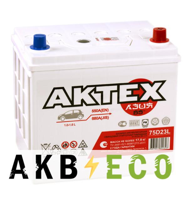 Автомобильный аккумулятор Актех Азия 75D23L (65R 550A 232x173x227)