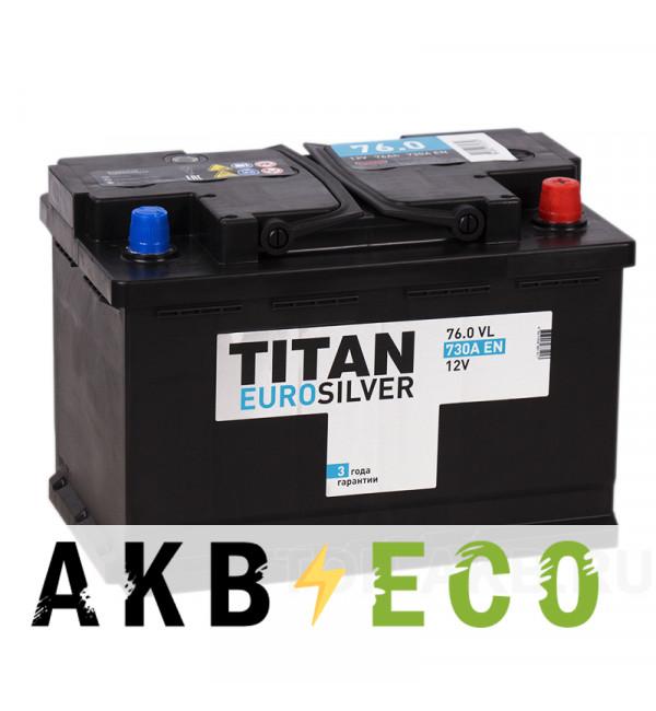 Автомобильный аккумулятор Titan Euro Silver 76R 730A 278x175x190