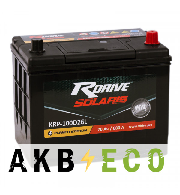 Автомобильный аккумулятор R-Drive 100D26L (70R 680А 260x173x225)