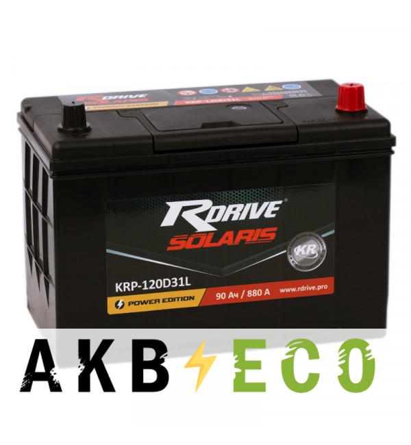 Автомобильный аккумулятор R-Drive 120D31L (90R 880А 306x173x225)