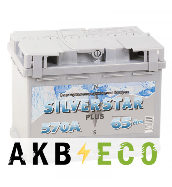 Автомобильный аккумулятор Silverstar Plus 65R 570A 242x175x190