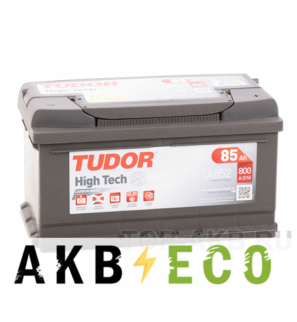 Автомобильный аккумулятор Tudor High-Tech 85R (800A 315x175x175) TA852