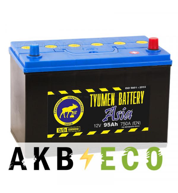 Автомобильный аккумулятор Tyumen Battery Asia 95 Ач обр. пол. 750A (302x173x225)