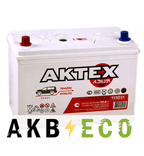 Автомобильный аккумулятор Актех Азия 115D31R (90L 780A 306x173x225)