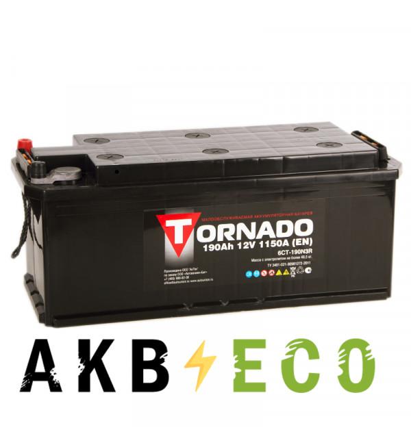 Автомобильный аккумулятор Tornado 190 евро 1150A 514x218x210