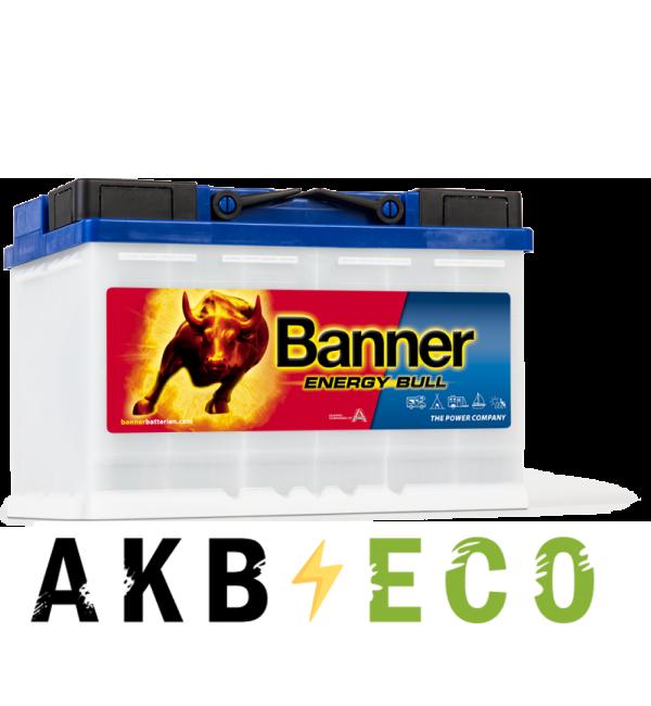 Автомобильный аккумулятор BANNER Energy Bull (956 01) 12V 80Ah 278x175x190