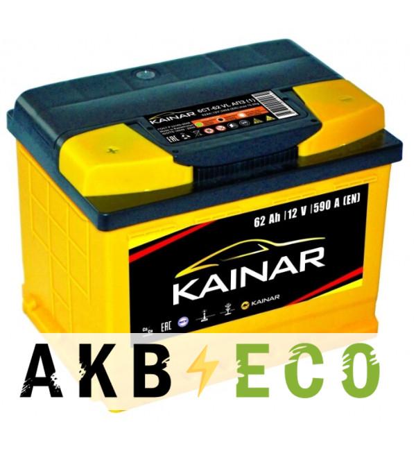 Автомобильный аккумулятор KAINAR 62 Ач прям. пол. 590А (242x175x190)