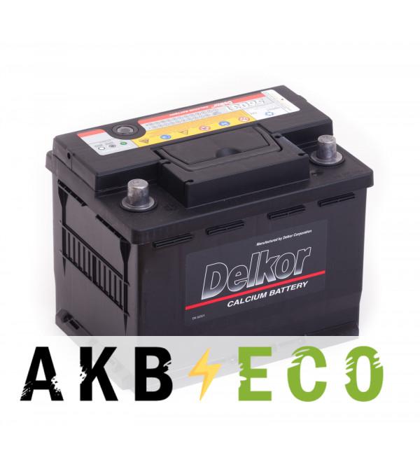Автомобильный аккумулятор Delkor 56031 (60L 525A 241x174x188)