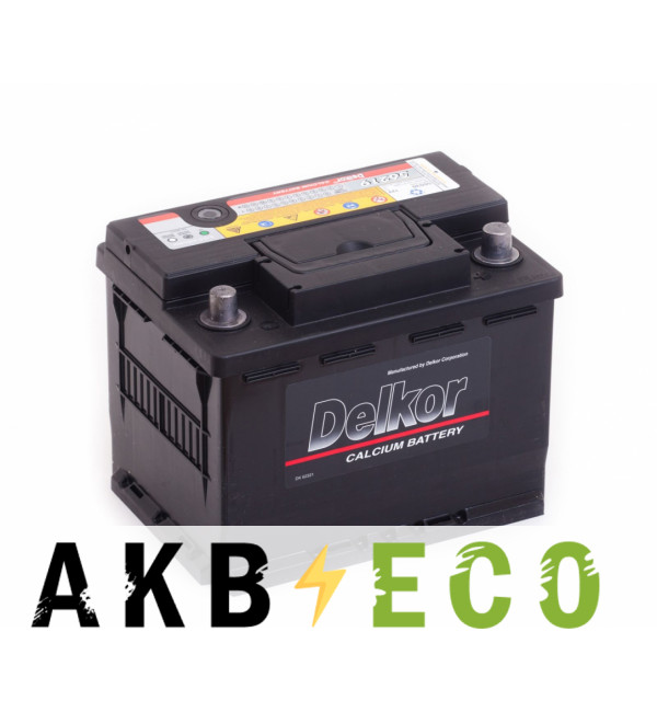 Автомобильный аккумулятор Delkor 56219 (62R 580A 241x174x188)