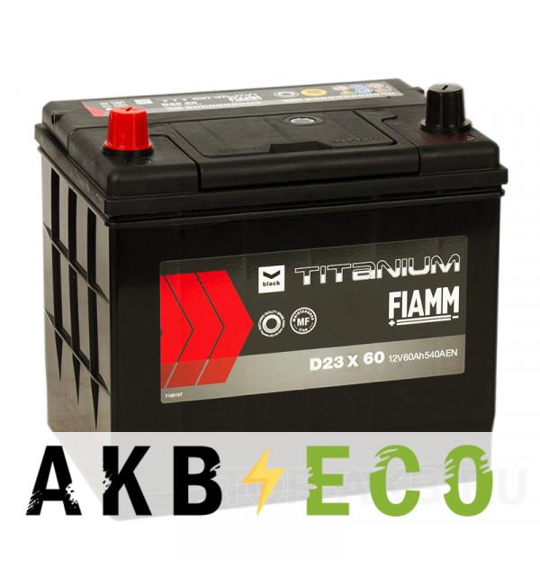 Автомобильный аккумулятор Fiamm Asia 60L 540A 232x173x225