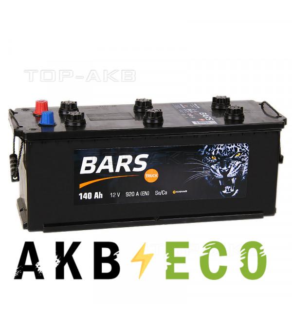 Автомобильный аккумулятор Bars 140 евро 920A 513x189x217
