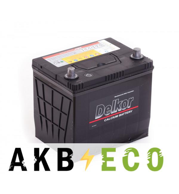 Автомобильный аккумулятор Delkor 75D23L (65R 570A 232x173x225)