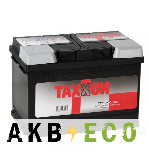 Автомобильный аккумулятор Taxxon 75L 680A (278x175x190) 112555, 57013