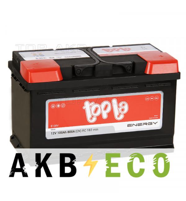 Автомобильный аккумулятор Topla Energy 100R (800A 315x175x190) 108000 59249