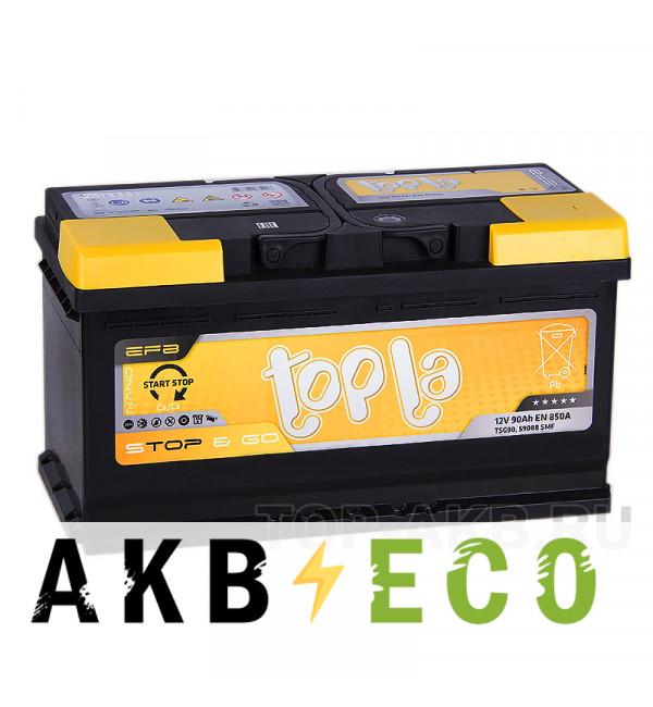 Автомобильный аккумулятор Topla EFB Stop-n-Go 90R (850A 353x175x190) 112090 59088