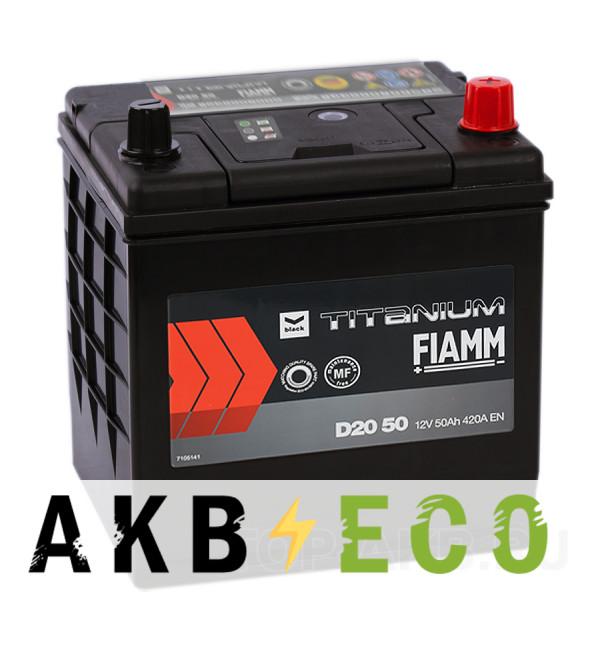 Автомобильный аккумулятор Fiamm Asia 50R 420A 200x173x225