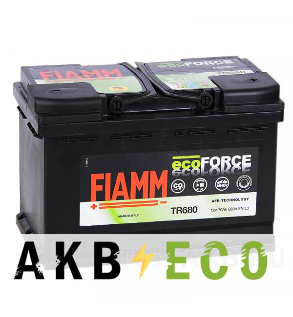 Автомобильный аккумулятор Fiamm Ecoforce AFB 70R 680A (278x175x190) EFB Start-Stop TR680
