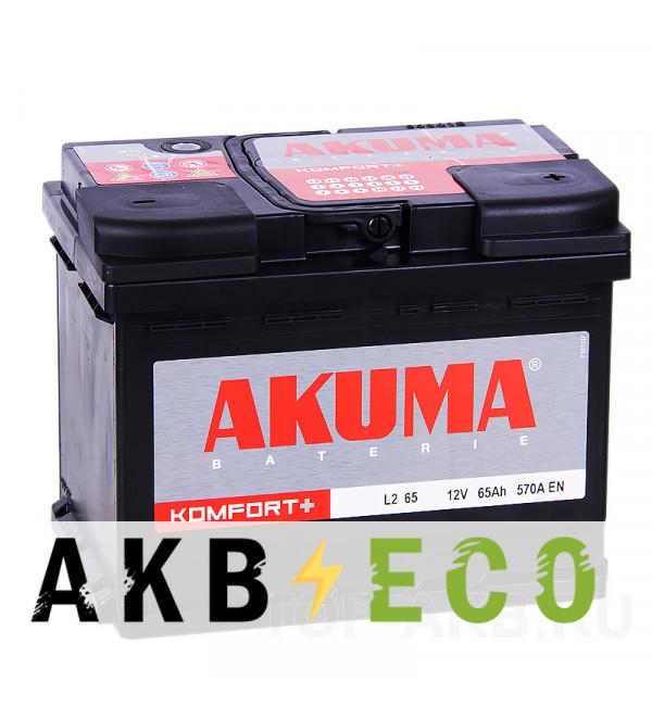 Автомобильный аккумулятор Akuma Vortek 65R 570A (242x175x190)