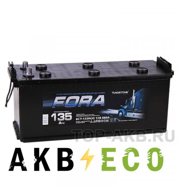 Автомобильный аккумулятор FORA 135 рус 860A 513x189x223