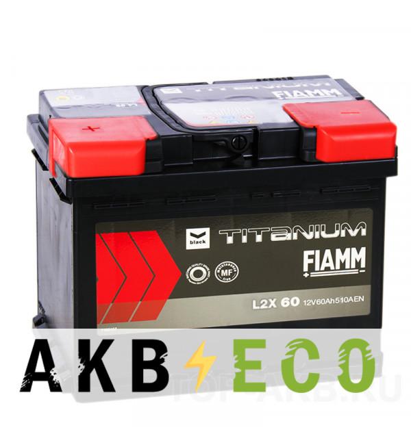 Автомобильный аккумулятор Fiamm Black Titanium 60L 510A 242x175x190 L2X 60
