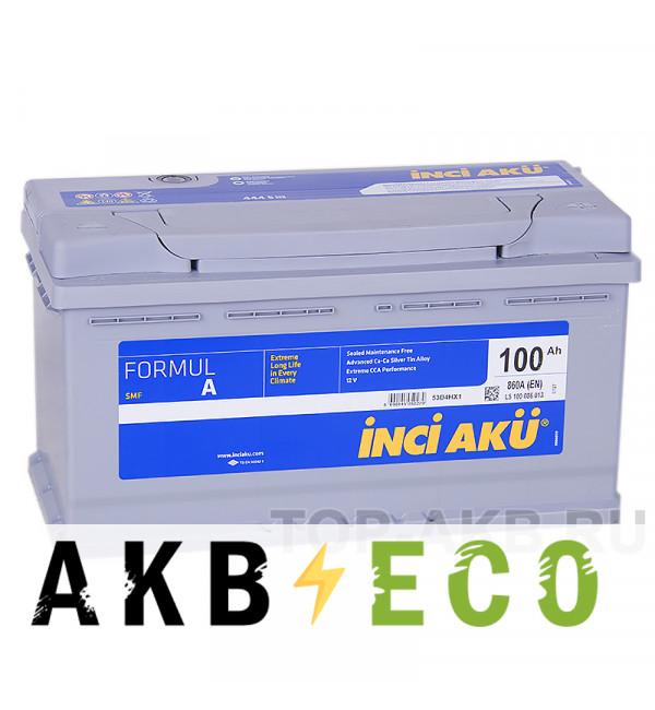 Автомобильный аккумулятор INCI AKU 100R 860A 353x175x190