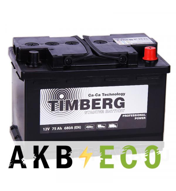 Автомобильный аккумулятор Timberg PRO 75R 680A 278x175x190