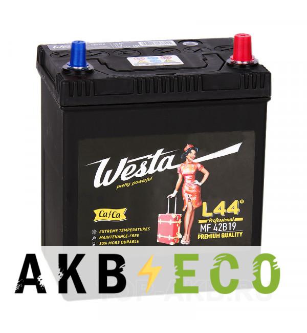 Автомобильный аккумулятор Westa 42B19L (40R 340A 187x127x219)