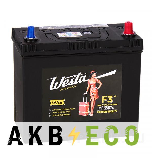 Автомобильный аккумулятор Westa 55B24L (45R 430A 238x129x227)