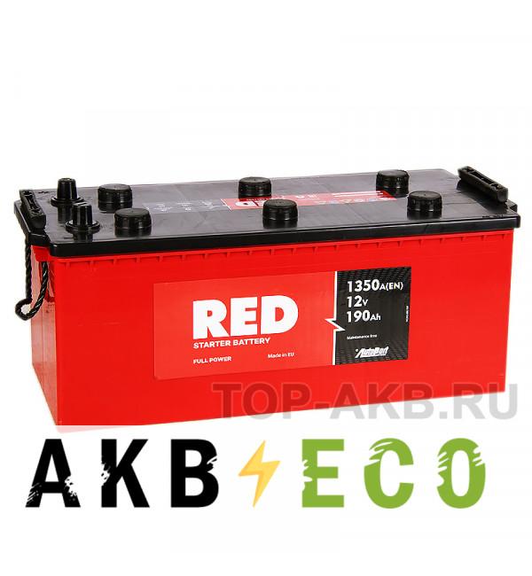 Автомобильный аккумулятор Red 190 euro (1300А 513x223x217)