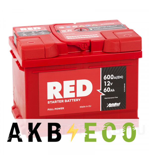 Автомобильный аккумулятор Red 60R 600A 242x175x190