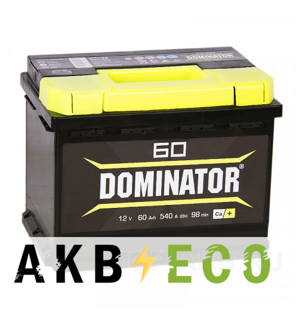 Автомобильный аккумулятор Dominator 60R 540А 242x175x190