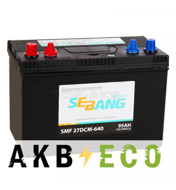 Автомобильный аккумулятор Sebang Marine 95 Ач прямая пол. 640А (305x173x225) 27DCM-640