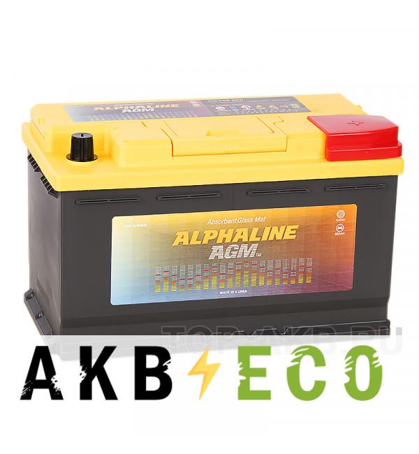 Автомобильный аккумулятор Alphaline AGM 80R 720A 315x175x190 Start-Stop