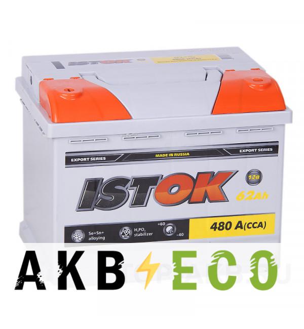 Автомобильный аккумулятор ISTOK 62L 480A (242x175x190)
