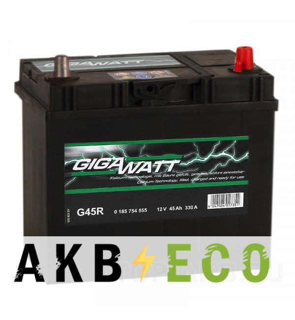 Автомобильный аккумулятор Gigawatt 45R 330A 238x129x227