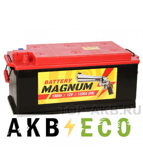 Автомобильный аккумулятор Magnum 190 рус 1200A 513x223x223