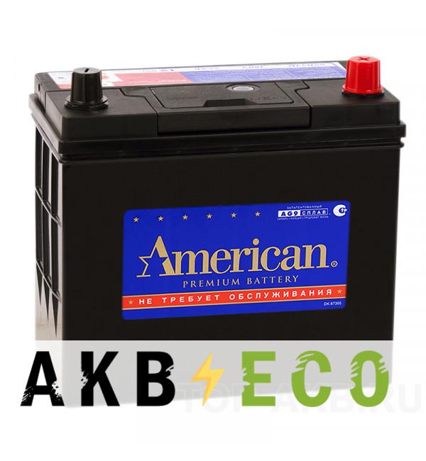 Автомобильный аккумулятор American 70B24LS (60R 510A 238x129x227)