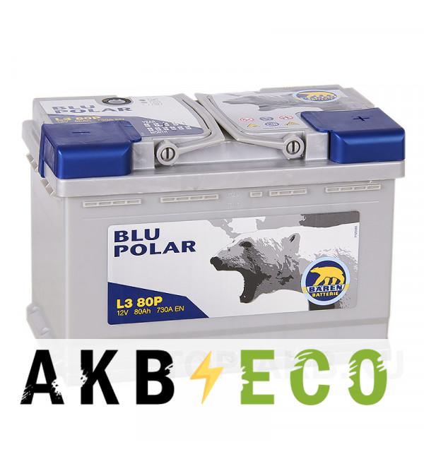 Автомобильный аккумулятор Baren Polar Blu 80R 730A 278x175x190 (L380P)
