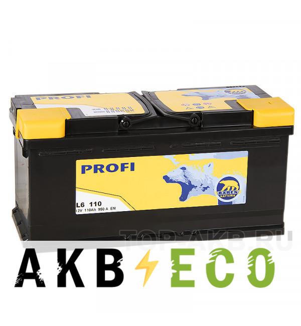 Автомобильный аккумулятор Baren Profi 110R 950A 393x175x190 (L6110P)